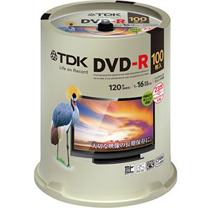 DR120DPWC100PUE [DVD-R 16�{�� 100���g]