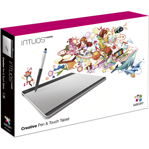 Intuos Comic pen & touch medium CTH-680/S1 [�V���o�[&�u���b�N]