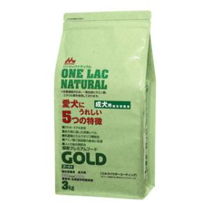 ワンラック ワンラック ナチュラル ゴールド 成犬用 3kg 【返品種別B】